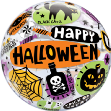 "Halloween Messages Bubble Balloon (22"") 1pc"